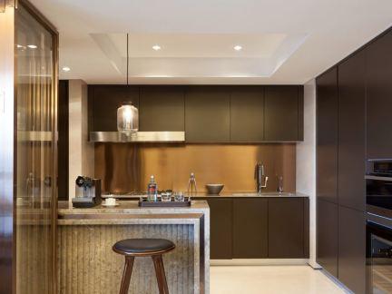 精装修板半隔断式厨房装潢图片