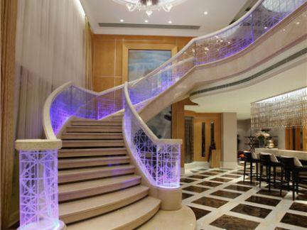 黄志达作品-福州西提湾顶层复式样板房楼梯效果图