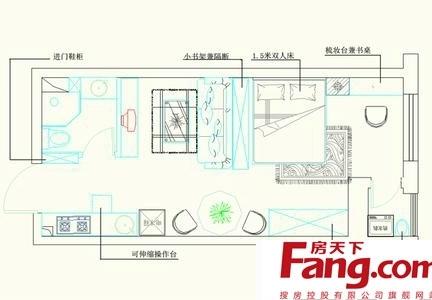 流行的单身公寓平面图展示-2017loft单身公寓装修 房天下装修效果图