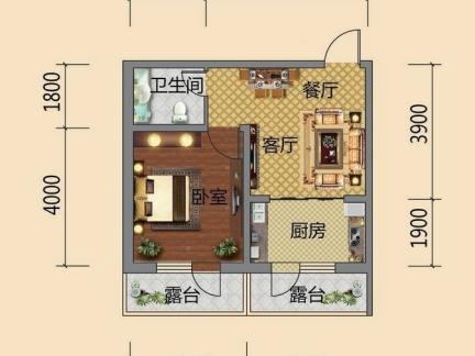 最新的一室一厅一卫户型图大全一览图片