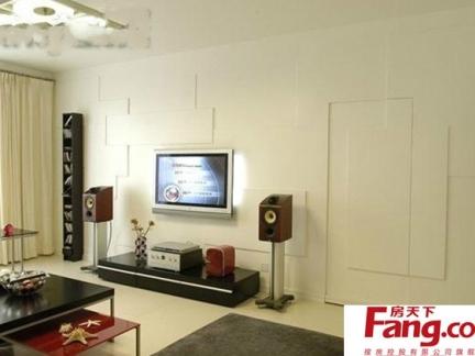 客厅电视背景墙隐形门装修欣赏