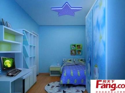 最新欧式十平米单间儿童睡房装修效果图