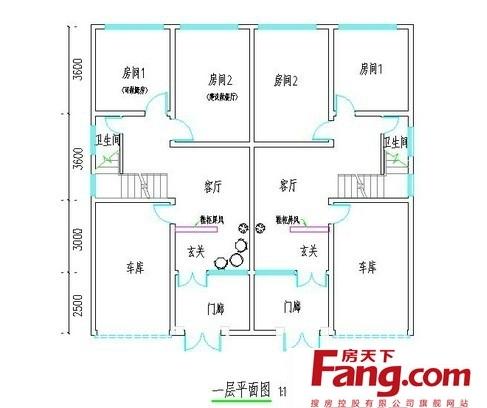 农村二层楼房设计平面图大全