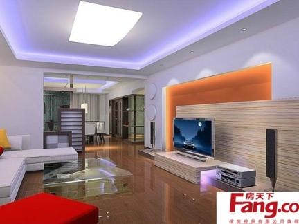 2018家庭客厅灯饰图片 房天下装修效果图