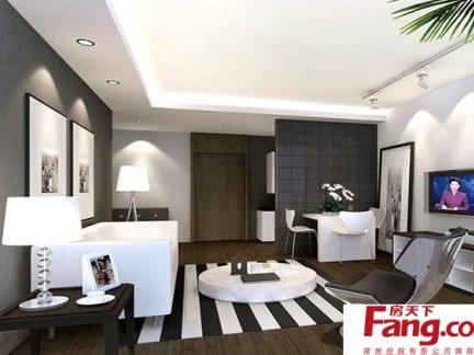 最新四室一厅现代客厅沙发瓷砖铺装家居装修效果图
