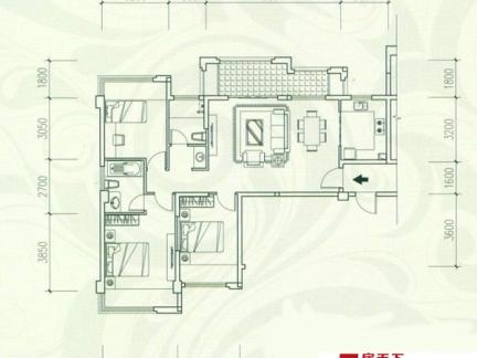 最流行的单身公寓平面图欣赏