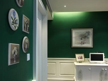 最新现代建筑楼道绿色照片墙绘的家庭装饰设计图片