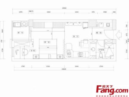 单身公寓平面图集锦-搜房网装修效果图