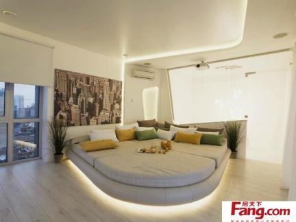 主卧室床之榻榻米床设计