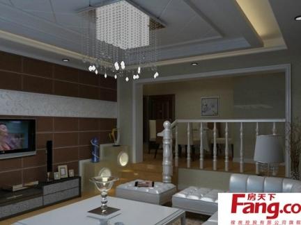 高清现代客厅阁楼楼梯家装图纸设计欣赏