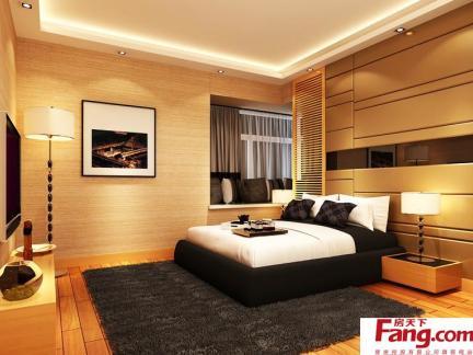 主卧室床之卧室落地窗装饰效果图
