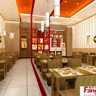 中式快餐店装修效果图大全图片
