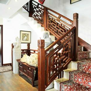 楼房室内楼梯玻璃隔断图集