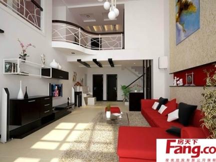 三室一厅家装中式跃层客厅图