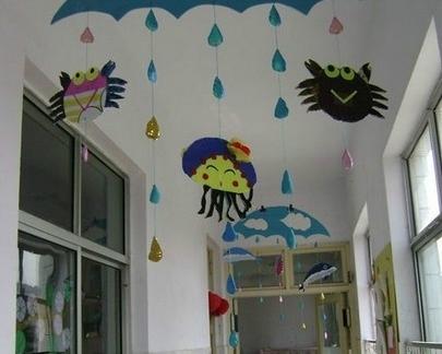 现代简约2013幼儿园走廊吊饰图片大全