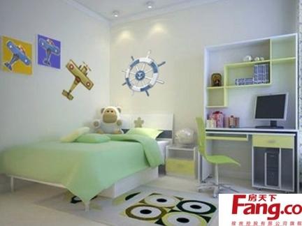 现代时尚十平米单间儿童睡房装修效果图