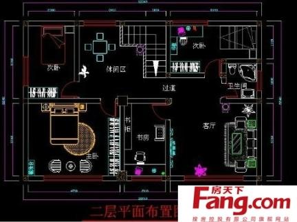 2017两间两层楼房装修设计图 房天下装修效果图