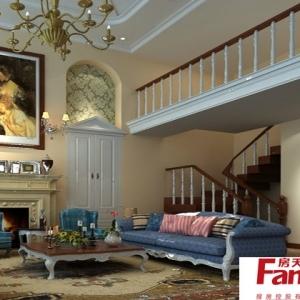 90平复式楼客厅地中海装修效果图图片