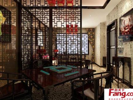 中式茶馆装修图片之包间图片