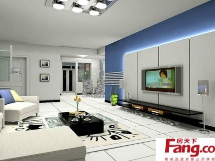 白色客厅装修效果图图片