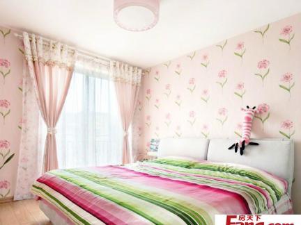 主卧室床之室内卧室床设计效果图图片