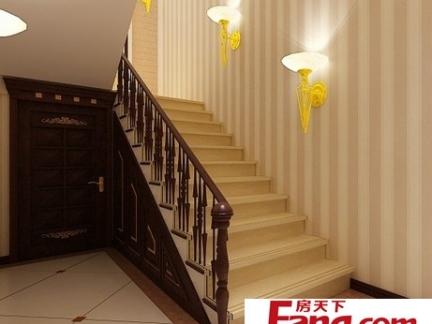 室内简约清新实木楼梯装修效果图片大全