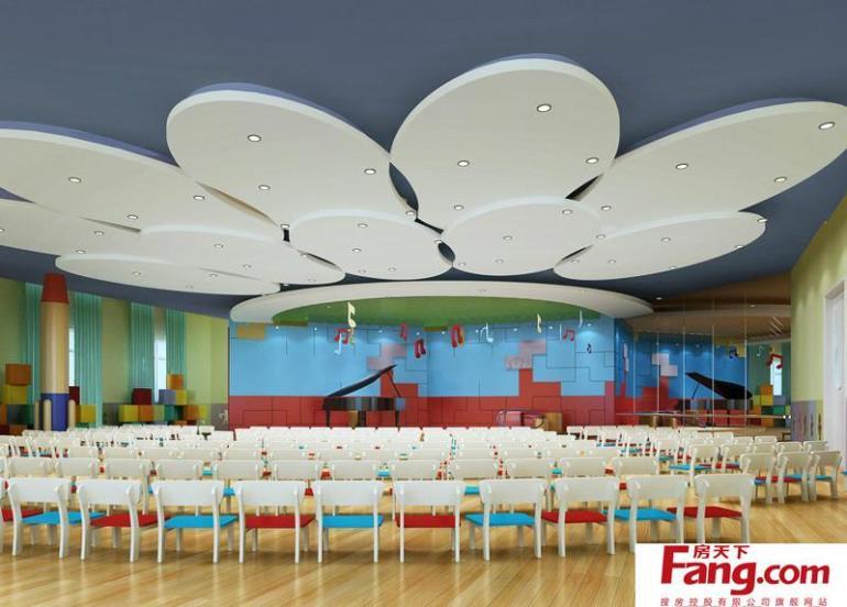 幼儿园设计效果图之表演大厅装修