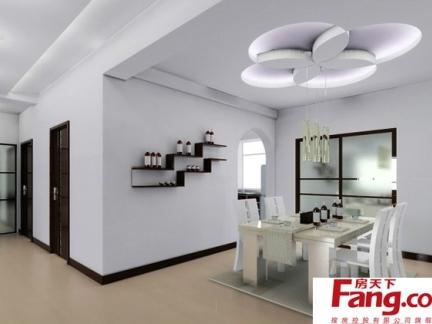 现代豪华美式客厅天花板吊顶家装图