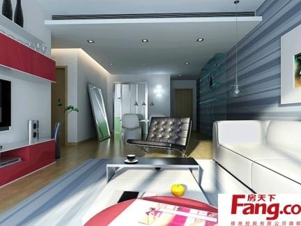 最新现代客厅墙布家居装修效果图