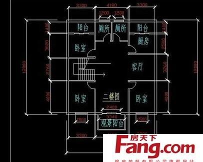 求楼房设计图纸.东西16米.南北盖9米多.大门和房子一起的.图片