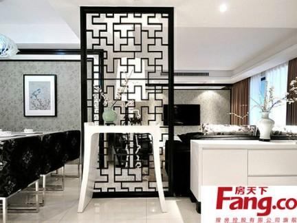 简约中式装修效果图之沙发背景墙装饰挂画