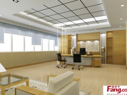 中式挂画办公室背景墙效果图