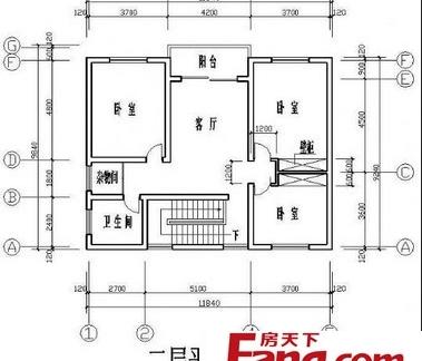 农村2层楼房室内设计平面户型图