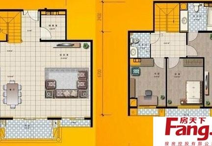 80平米复式楼户型图-65平米复式楼户型图图片