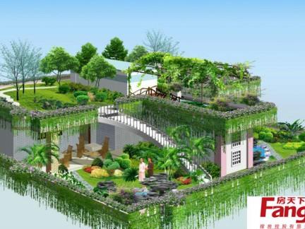 手绘设计屋顶花园平面图-2017屋顶平面图排水画法 房天下装修效果图