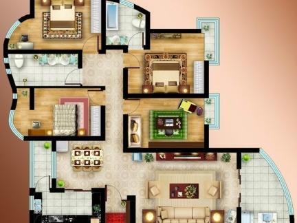 2013最新农村别墅不规则内部设计图纸