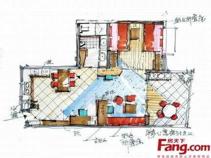 2013年最新单身公寓平面图集锦一览