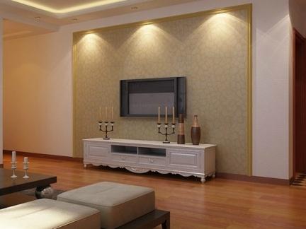 2017仿木纹瓷砖电视背景墙图片 房天下装修效果图