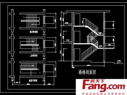 二层楼梯设计平面图纸大全