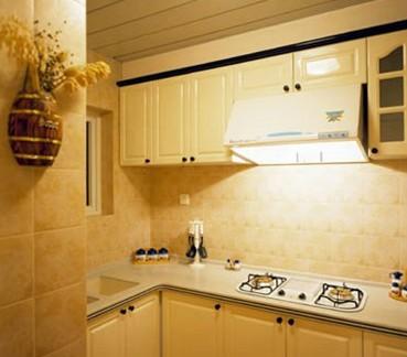 017清新美式厨房墙砖贴图 房天下装修效果图