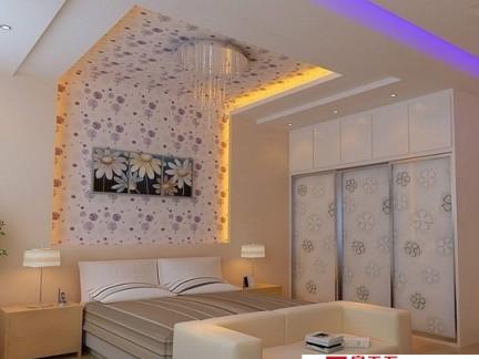 卧室床头手绘背景墙