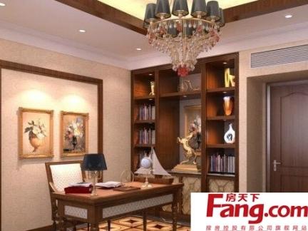 中式简欧书房装修效果图