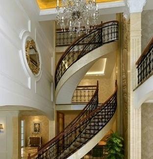 2018复式别墅楼梯效果图片 房天下装修效果图