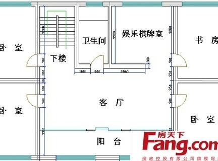 农村二层楼房平面设计布局室内图纸