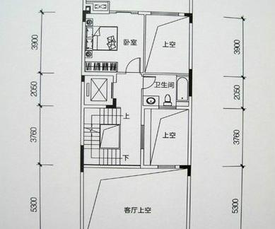 农村两层别墅底层户型图