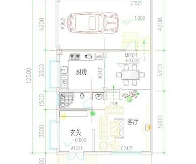 长方形房间格局设计图展示图片