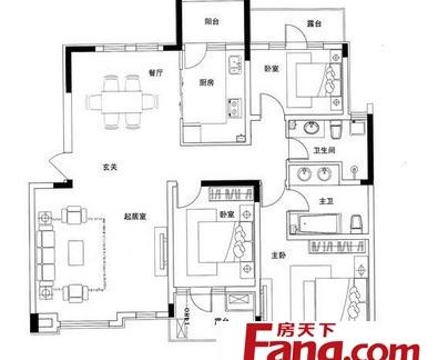 二层楼房户型平面设计图纸-2017楼房户型平面图 房天下装修效果图图片