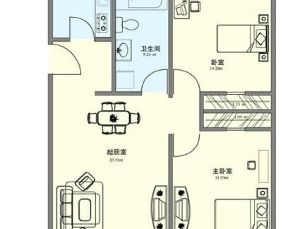 农村两层别墅顶层户型图