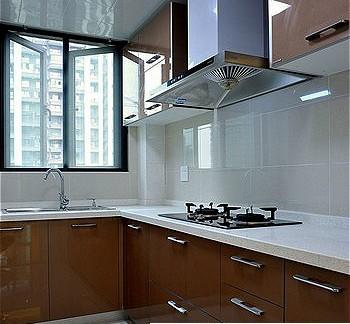小户型现代简约时尚厨房装修效果图大全2012图片