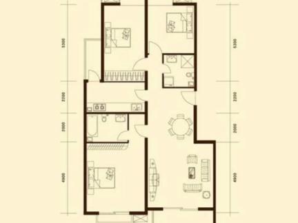 120平米别墅户型图